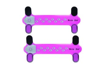 2x Nite Ize NiteDawg 17cm LED Glow/Flash Light Pets/Dog Collar Cover Neon Pink