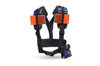 Nerf Elite Utility Vest for Blaster/Dart w/Straps/Clip Outdoor Game Accessory 8+