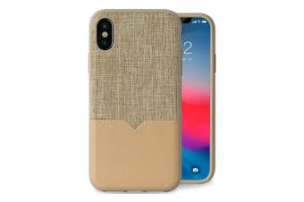 Evutec Northill Drop Proof Fabric/Leather Case For Apple iPhone X/XS w/Mount TAN