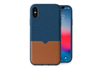 Evutec Northill Drop Proof Fabric/Leather Case For Apple iPhone X/XS w/Mount BLU