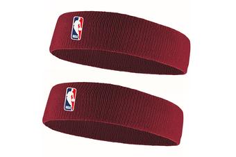 2x Nike Elite Headband Sports Sweat/Head Band Workout Fitness Running Red/Maroon