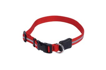 Nite Ize NiteDawg Red LED Light Glow/Flash Water Resistant Dog Collar 46-68cm L