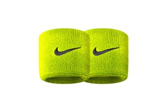 Nike Swoosh Sports Running Sweat/Wristbands Basketball Workout Fitness Neon GRN