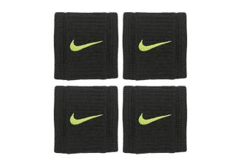 4pc Nike 7cm Dri-Fit Reveal Wristbands Support/Compression Sports/Training Black
