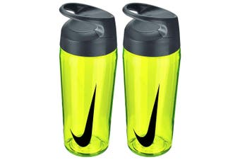 2PK Nike Hypercharge 473ml Water Bottle Training Hydration Sports BPA Free YEL