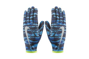 Nike Men's Printed Lightweight Rival Sports Jogging/Running Gloves Large Royal