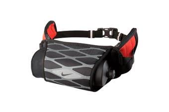 Nike Storm Hydration Waist Pack w/ BPA Free 650ml Water Bottle Black/Crimson