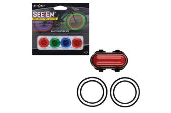 Nite Ize LED BIKE/Bicycle Rear/Back Red Light w/4x Mini Spoke Wheels Lights