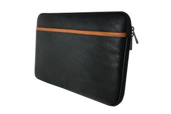 """NVS Apollo Sleeve Case Cover Protection Storage Bag for 13"""" Laptop Black/Tan"""