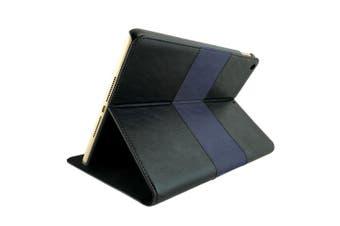 """NVS Apollo Multi-View Folio Case Cover for Apple iPad 10.2""""/7th Gen Black/Blue"""