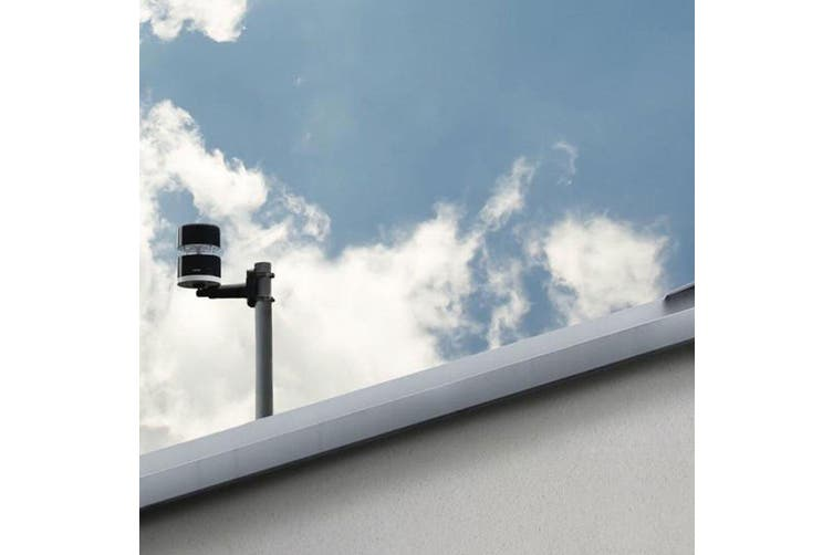 Netatmo Weatherproof Roof/Wall Mount Wind/Rain Gauge for Weather Station Black