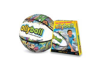 Ollyball 30.5cm Indoor/Outdoor Game/Toy Volleyball/Soccer Shock Absorb Ball 4y+