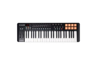 M-Audio Oxygen49 USB MIDI Pad Portable Keyboard Controller w/ Ableton Live Black