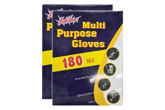 360pc Multi Purpose One Size Disposable Polyethylene Gloves f/ Cooking/Painting