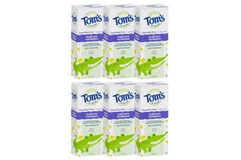 6x Tom's Of Maine 49g Fluoride/SLS Free Natural Children's Toothpaste Mild Fruit