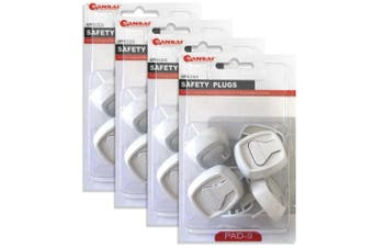 24pc Baby/Child Power Point Cover/Board/Safety Plugs/Protective/Outlet/NZ/AU