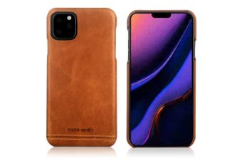 Pierre Cardin Genuine Leather Slim Case/Cover for Apple iPhone 11 Pro Brown