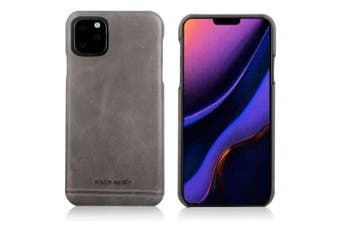 Pierre Cardin Genuine Leather Slim Case/Cover for Apple iPhone 11 Pro Grey
