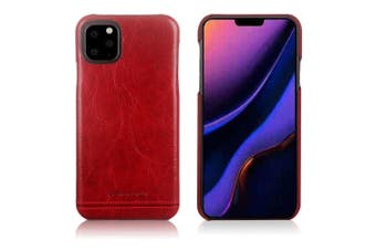 Pierre Cardin Genuine Leather Slim Case/Cover for Apple iPhone 11 Pro Red