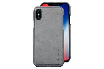 Pierre Cardin Genuine Leather Slim Case/Cover for Apple iPhone X/XS Grey