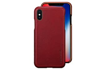 Pierre Cardin Genuine Leather Slim Case/Cover for Apple iPhone X/XS Red
