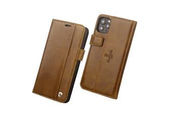 Pierre Cardin Gen. Leather Folio Wallet Case Card Holder for iPhone 11 Pro BRW