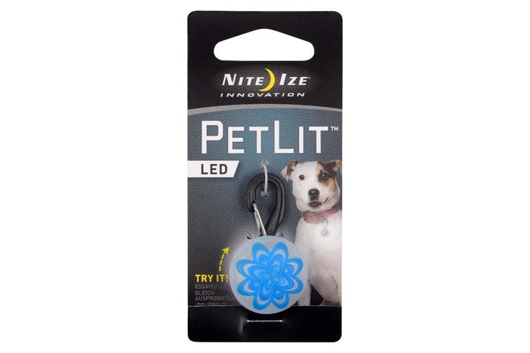 4x Nite Ize PetLit LED Clip-On Pet/Dogs/Cats Collar Twist Pendant 24hr Light BL