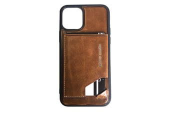 Pierre Cardin Gen. Leather Wallet Case w/Card Holder/Stand for iPhone 11 Pro BRW