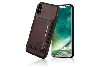 Pierre Cardin Gen. Leather Wallet Case w/Card Holder/Stand for iPhone X/XS DBRW