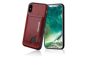 Pierre Cardin Gen. Leather Wallet Case w/Card Holder/Stand for iPhone X/XS Red