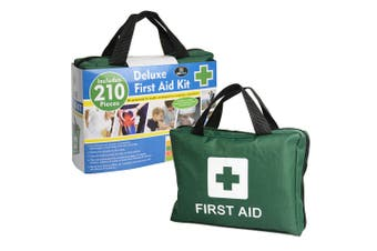 210pc Emergency Medical First Aid Kit Injury Treatment Pack/Portable Case
