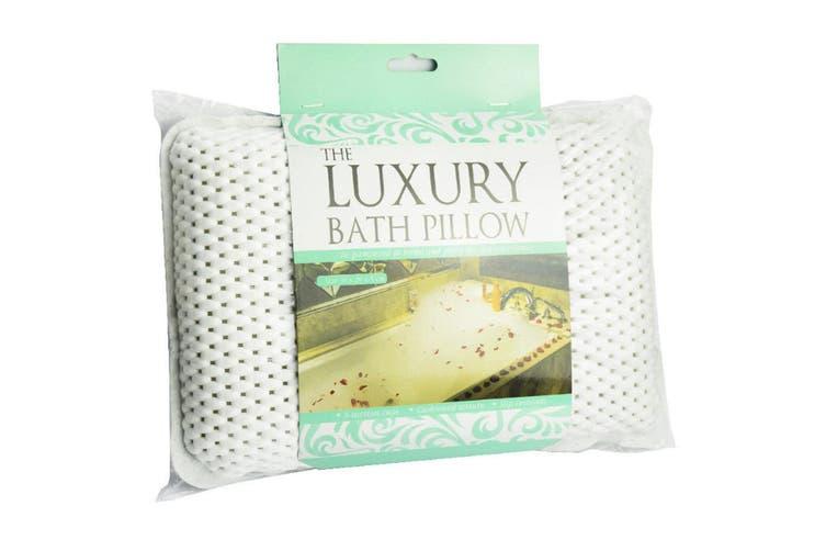 Luxury Spa Bath Pillow Head/Neck/Back Support Bathtub Cushion w/ 8 Suction Cups
