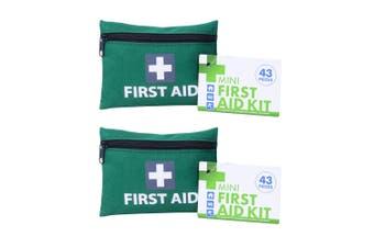 2x 43pc Mini First Aid Kit Home/Car Emergency Cuts/Minor Injuries Essential Kit