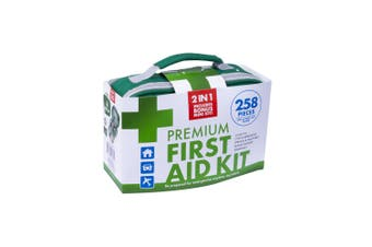 258pc Home/Car First Aid Kit Emergency Cuts/CPR/Sprain/Injuries Essential Kit