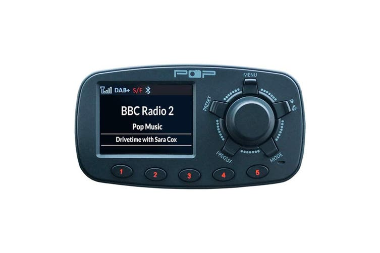 Pop In-Car Digital DAB+ FM Radio & Bluetooth Adapter for Hands Free Calling