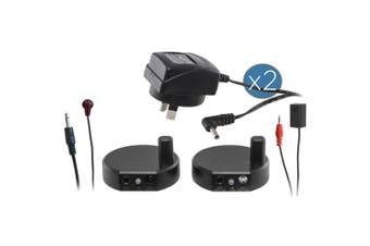 IR Wireless Infrared Remote Control Repeater/Extender Kit System w 2 Emitters