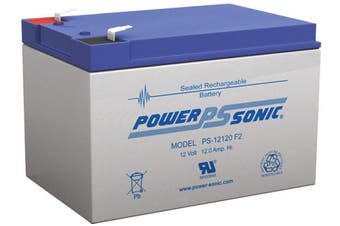Power Sonic 12V 12Ah SLA Rechargeable Battery F2 Terminal Sealed Lead Acid