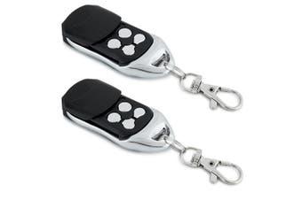 2PK Greenlund PTX-5V1 Universal Garage Door Remote Control w/Keyring Clip BLK