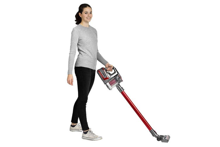 Lenoxx Handheld/Extendable Rechargeable/Cordless Vacuum Cleaner Brush/Duster Red