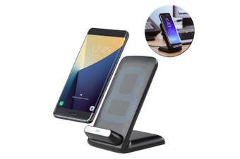 Laser Qi Wireless Fast Charger Stand Charging Dock for iPhoneX/8/8+/S8/S9/Note 8
