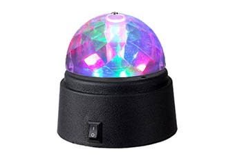 Sansai Battery Powered Mini LED Party Disco Light Spinning/Rotating Indoor 9cm