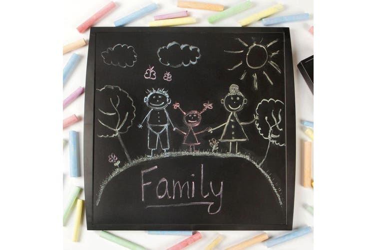 Quartet 350x350mm Chalkboard Basic Memo Notes Plastic Board Kids/Children Black