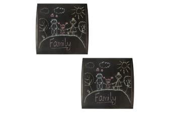 2x Quartet 350x350mm Chalkboard Basic Memo Notes Plastic Board Kids/Children BLK