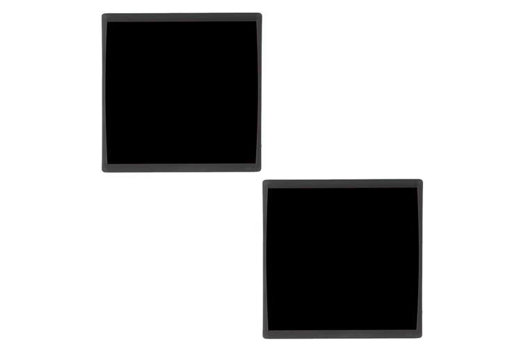 2PK Quartet Basics Chalkboard 350x350mm Memo Notes Magnetic Learning Board Black