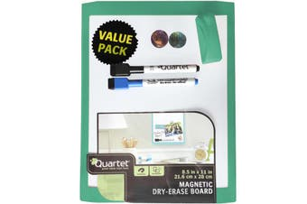 Portable Magnetic White board 28x21.6cm Green Wall Mountable Includes 2 X Marker
