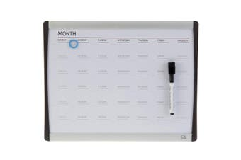 Quartet 36cm ARC Magnetic Whiteboard Daily/Weekly Planner Calendar Organiser/Pen