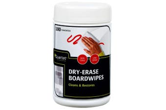 100PK Quartet Dry-Erase Board Wipes Cleaning Eraser/Cleaner for Whiteboard White