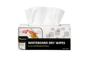 180pc Quartet Dry Wipes Cleaning Erase Wipe Eraser/Cleaner for Whiteboard White