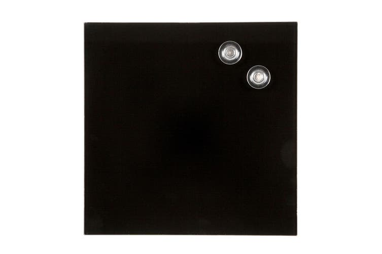 Quartet 300mm Magnetic Tempered Glass Wipe Off/Write On Memo/Notes Board Black