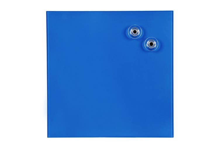 Quartet 300mm Magnetic Tempered Glass Wipe Off/Write On Memo/Notes Board Blue